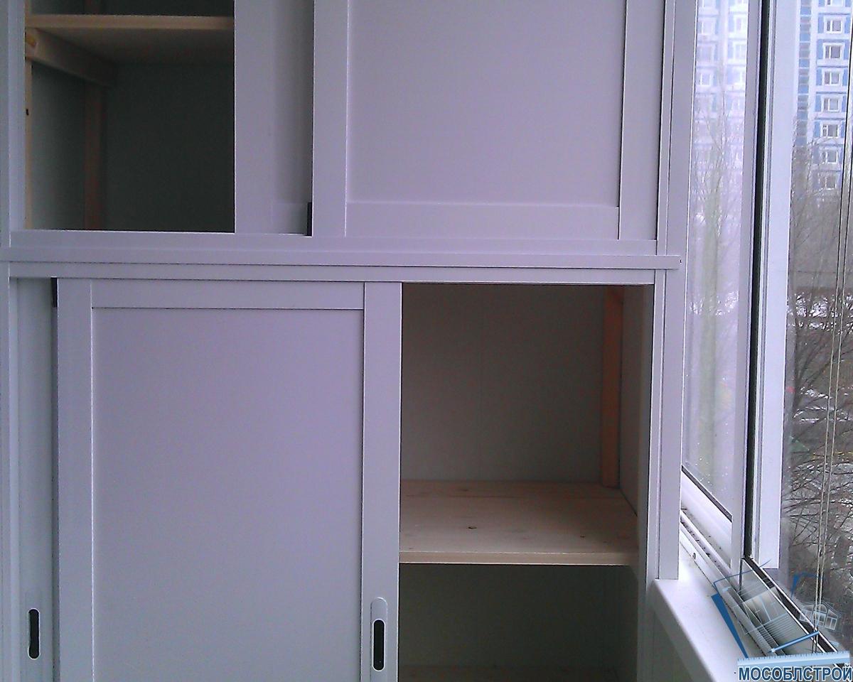 Шкаф из профиля на балконе своими руками 75